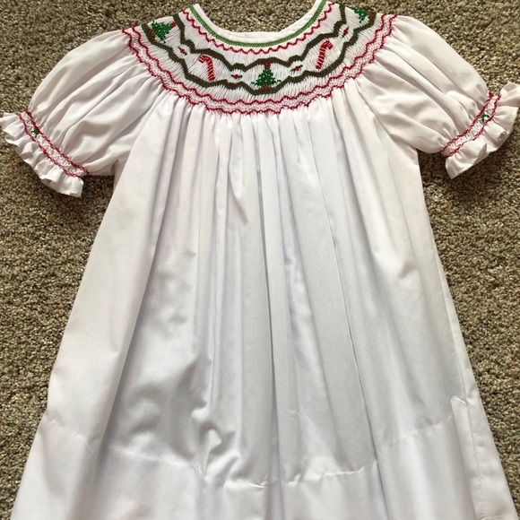 Smocked Christmas Dress.Smocked Christmas Dress Girl Size 24 Months Nwot